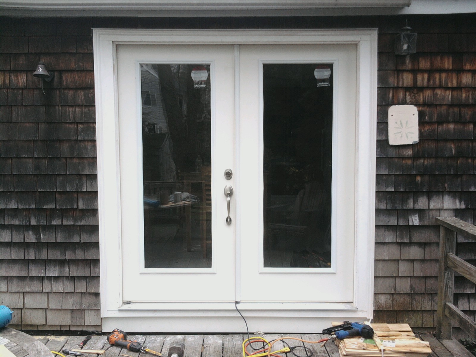 Wooden french doors exterior examples ideas pictures for Patio window replacement